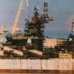 """РКР """"Адмирал флота Лобов"""" на правом берегу Ингула."""