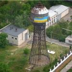 Шуховская водонапорная башня в Николаеве. 2014 год.