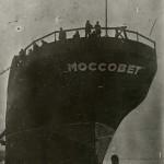 """Нефтеналивной теплоход """"Моссовет"""". 1931 год."""