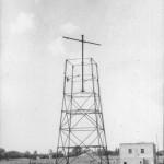 Строительство Николаевской телебашни. 1957 год.