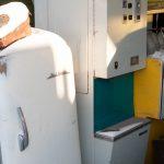 Автомат для продажи растительного масла. Такие были установлены в Николаеве в рыбных магазинах.