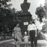 Бюст Адмирала Макарова на бульваре.