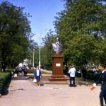 Бюст С.О. Макарова на бульваре в г.Николаеве. Начало 70-х.