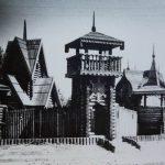 Деревянная крепость в городке Сказка