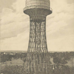 Дореволюционная открытка. Водонапорная башня в Николаеве.