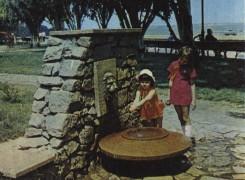 """Фонтан """"Лев"""" на Флотском бульваре. 1980-е годы."""