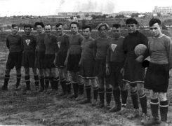 Футболисты на стадионе на Темводе. 50-е. Из личного архива Сергея Радецкого.