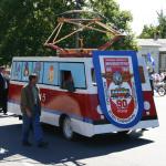 Колонна трампарка на параде в день города Николаева.