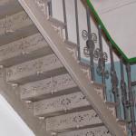 Лестница ЖД техникума рисунок подступеней конструктив второй лестницы