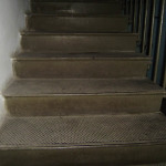 Лестница в обсерватории. ступени.