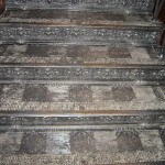 Лестница в здании на Никольской. Правое крыло. Ступени.