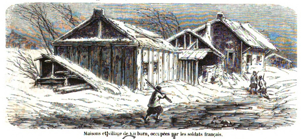 Сельский дом на Кинбурне, оккупированный (занятый) французскими солдатами