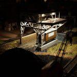 Ночной вид участка погрузки угля