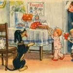 Поздравительная открытка с 8 марта. 1959 год