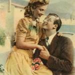 Поздравительная открытка. 50е годы ХХ столетия. Иностранная
