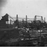 Разрушенный эллинг со стапелями №2 и №3, ЧСЗ, 1944 г.