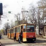 Состав КТМ5М3 маршрута 4 на Декабристов