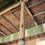 Старофлотские казармы. Несущая опора лестницы во время ремонтных работ