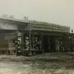 Строительство Варваровского моста. Береговый пролетные строения в опалубке.