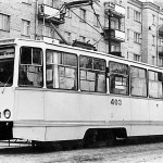 Трамвай КТМ5М с пластиковой обшивкой кузова