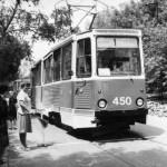 Трамвай КТМ5М3 на соревнованиях по мастерству водителей в депо
