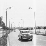 Варваровский мост в Николаеве 1965 год. Вид со стороны Варваровки.