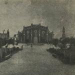 Вид на Девичье училище и мечеть со стороны парка Петровского. Послереволюционная открытка.