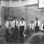 Вторая школа в Николаеве. Фото в спортзале. Разобран в начале 80-х.