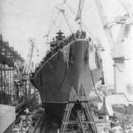 """Спуск РКР """"Адмирал флота Лобов"""". 11 августа 1990 года."""