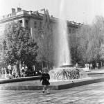 Работа фонтана в первоначальном виде. 70-е.