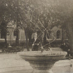 А. Байбородин у фонтана