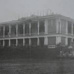 Сожженный анархистами дворец и фонтан 1918 год.