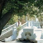 Турецкий фонтан и лестница в яхтклубе. Николаев 80е годы ХХ столетия.