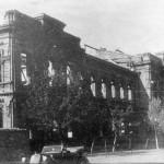 Разрушенное здание.