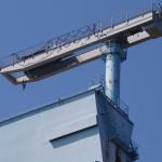 На самом верху кранов установлен еще один, для технологических нужд.