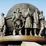 Памятник корабелам и флотоводцам в городе Николаеве.