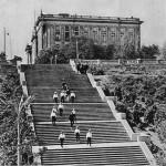 Лестница соединяющая Флотский бульвар и набережную.