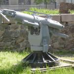 Гарпунная пушка возле музея на заводе им. 61 коммунара.