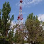 Вид на Николаевскую телебашню и проходную телецентра.