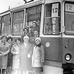 трамвай КТМ5М3 нового маршрута 12 снимок в трамвайном депо