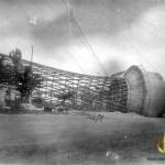 Шуховская башня на земле. 1944 год.