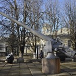 102-мм орудие Обуховского завода обр.1911 года № 1 в Музее судостроения и флота