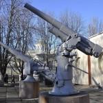 76-мм зенитная пушка Линдера в Музее судостроения и флота.