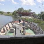 """""""Дельта"""" - учебное судно НУК (НКИ). Вид с капитанского мостика."""