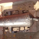 Казенная часть ствола пушки в детском городке Сказка